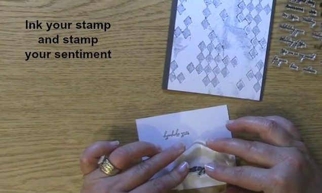 Ink and stamp sentiment