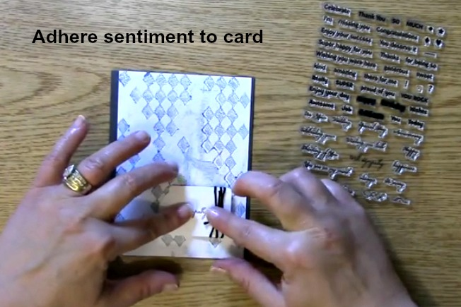adhere sentiment to card