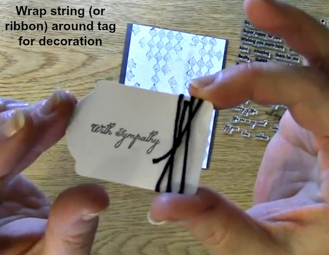 wrap string around tag