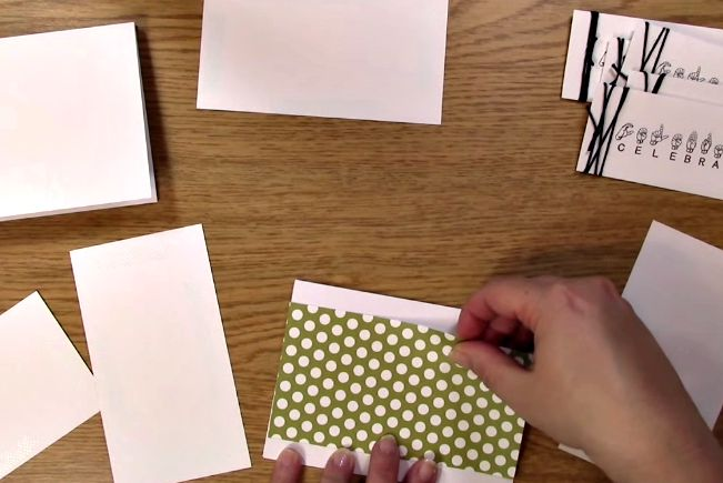 apply patterened paper to the card base