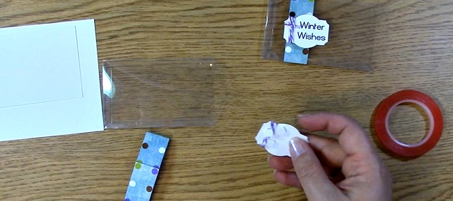 adhere foam squares and remove backing