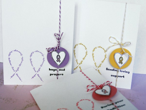 This was created with the Awareness Ribbon Set #2 Stamp Set