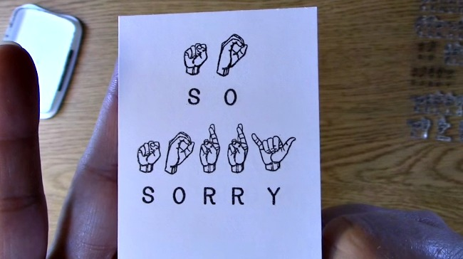 Stamp Set Sneak Peek - Sign Language Sentiments 2 g