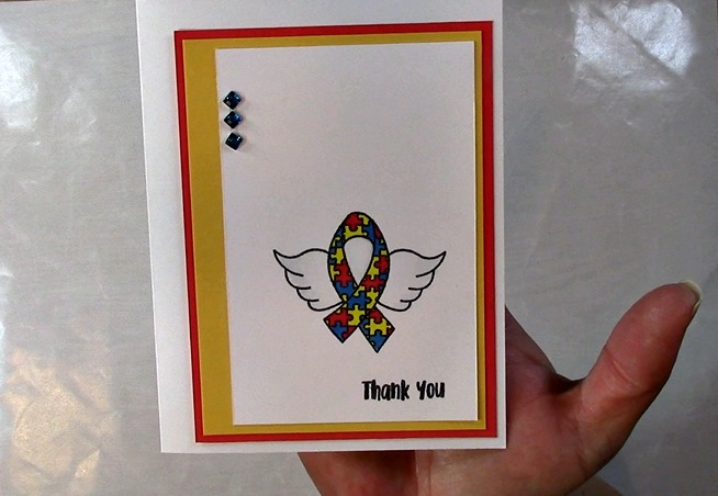 Awareness Ribbon #6 - Autism Angel Stamp Release SNEAK PEEK and MORE b
