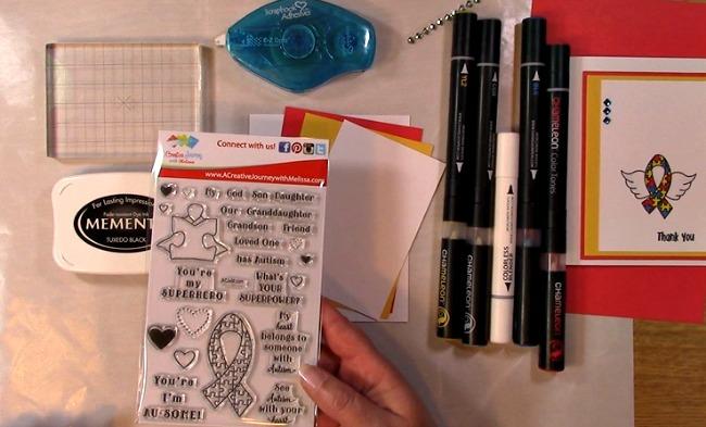 Awareness Ribbon #6 - Autism Angel Stamp Release SNEAK PEEK and MORE e