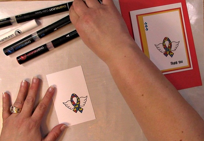 Awareness Ribbon #6 - Autism Angel Stamp Release SNEAK PEEK and MORE m