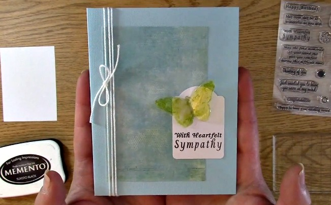Sympathy Card Part 2 - Creating Your Card d