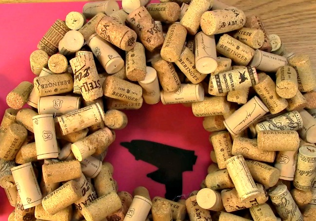 Create your own Cork Wreath Part Two a