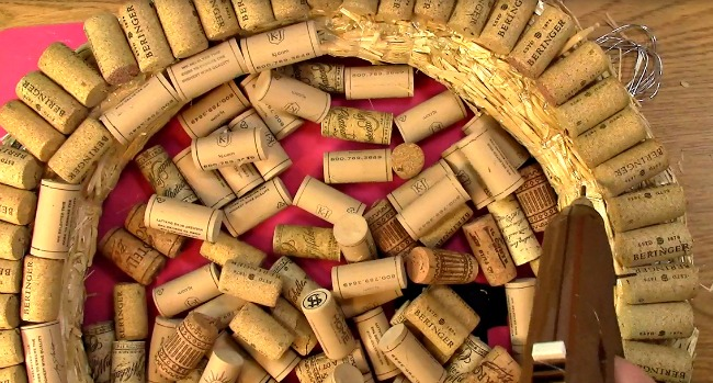 Create your own Cork Wreath Part Two n