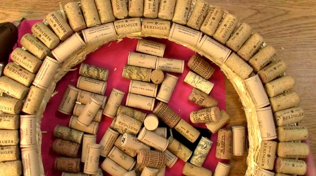 Create your own Cork Wreath Part Two o