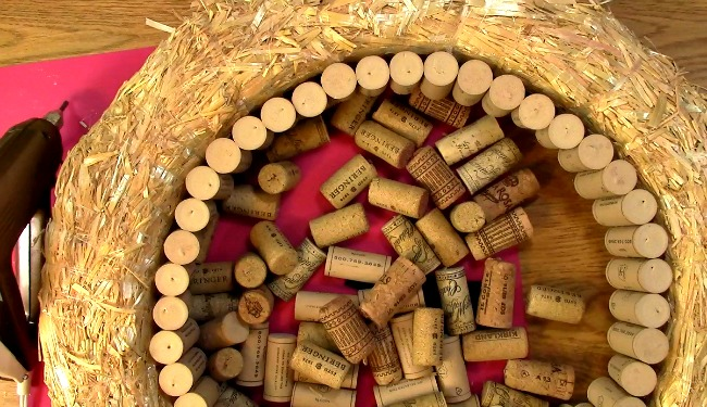 Create your own Cork Wreath Part Two r
