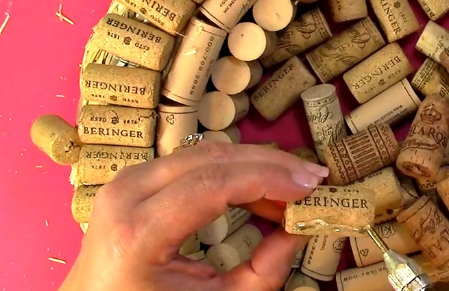Create your own Cork Wreath Part Two s
