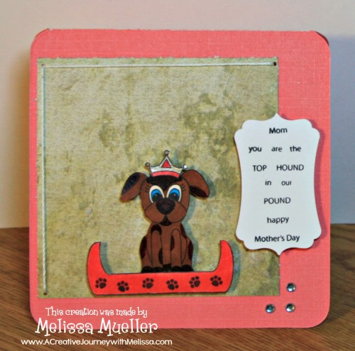 Mom is Top Dog Stamp Set