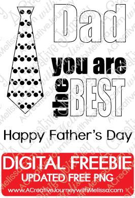 Father's Day Digital Freebie Stamp Set