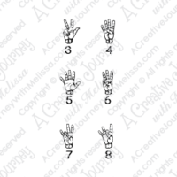 Sign Language Numbers - American Sign Language Stamp Set