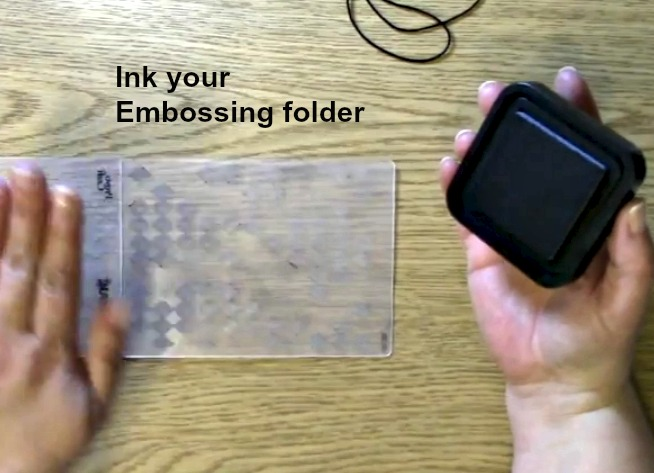 Ink embossing folder