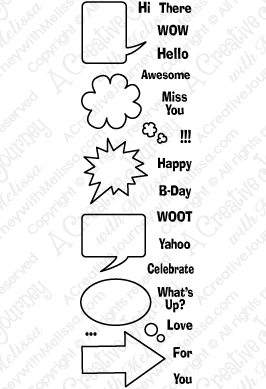 Speech Bubbles Mini Clear Stamps And Crafting Products
