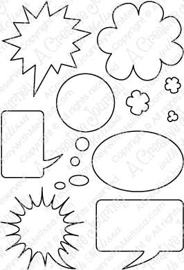 Speech Bubbles - Large Stamp Set