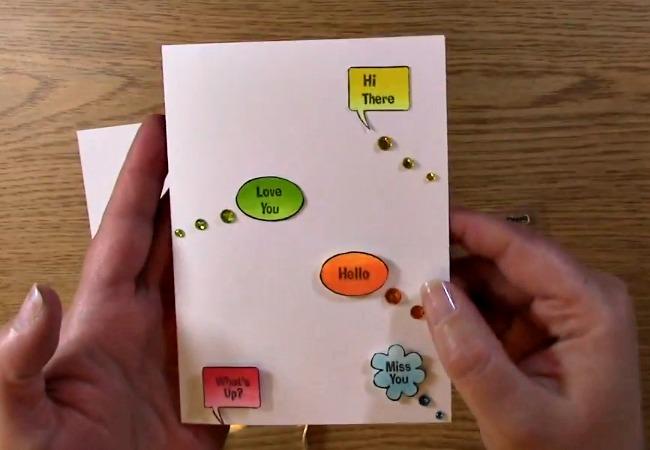Speech Bubbles Card