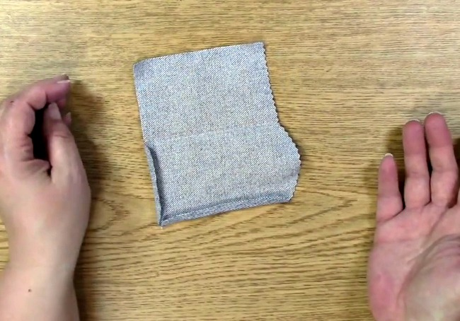 Fold creases with finger