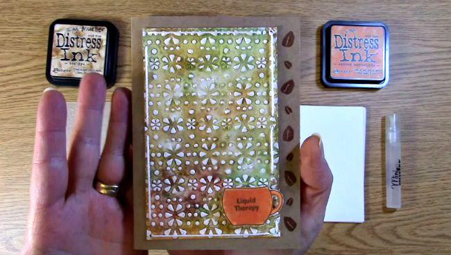 Close up of card