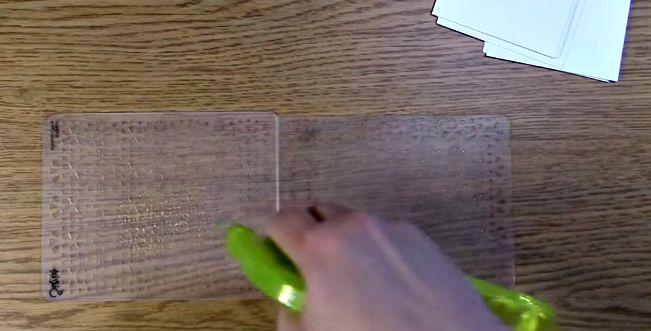 clean off embossing folder