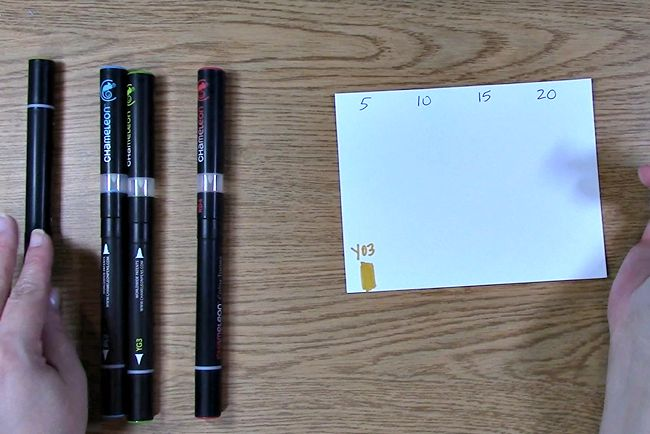 color the bottom of your paper and write color number