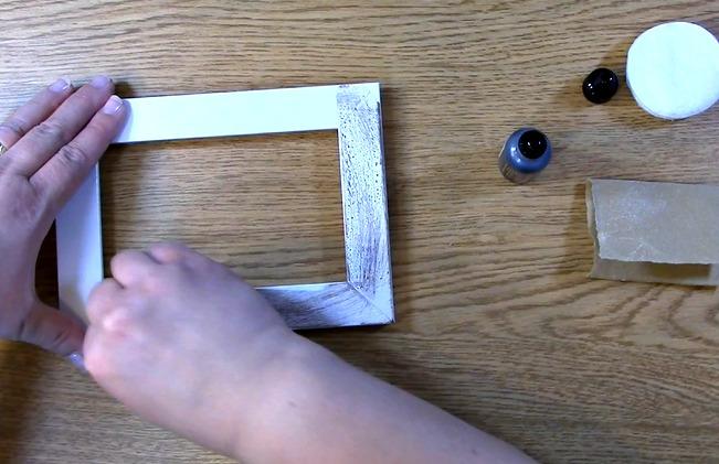 apply ink on frame
