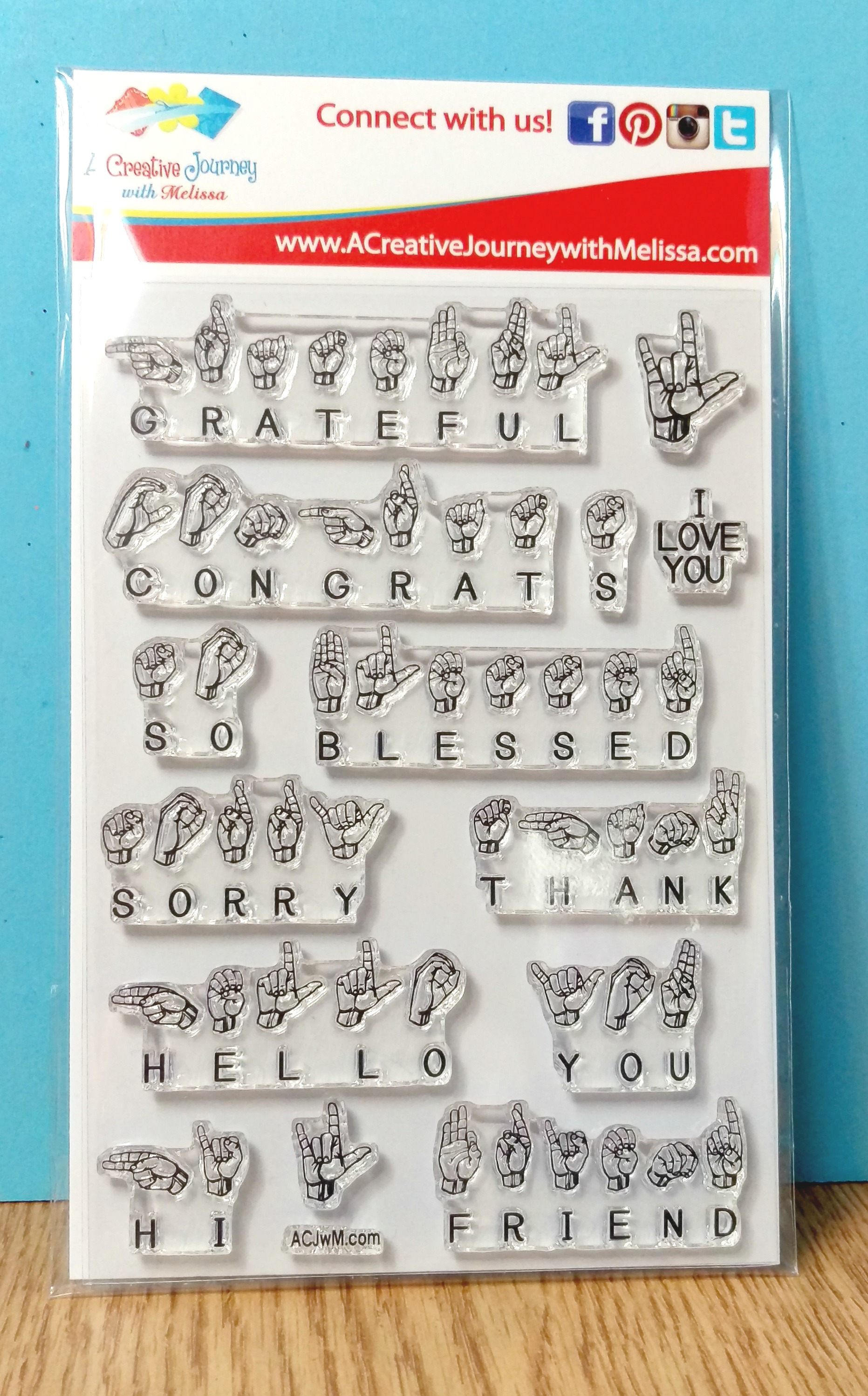 Sign Language Sentiments 2 Clear Stamps And Crafting Products
