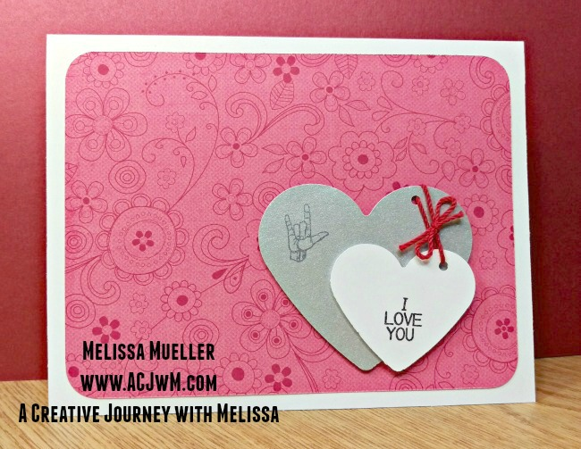 Sign Language Sentiments 2 stamp set I Love You Card Master wm