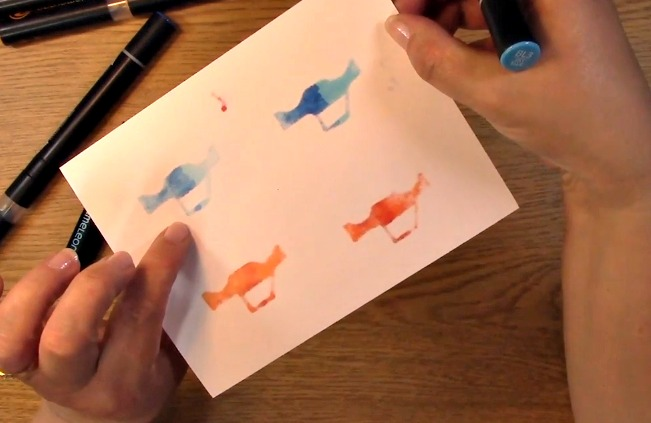 Gradient Coloring Tutorial using Chameleon Pens q