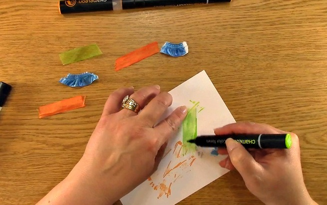 SAVE MONEY! Coloring Ribbon with Chameleon Pens o