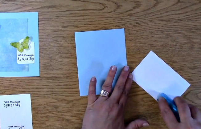 Sympathy Card Part 2 - Creating Your Card h