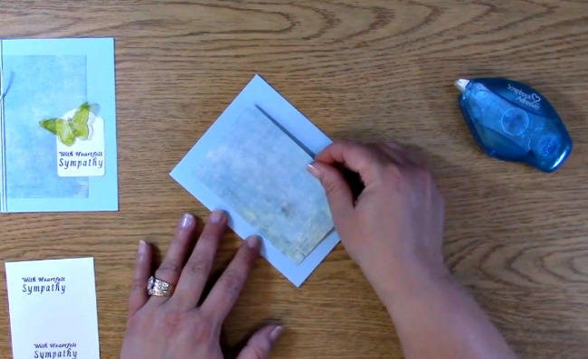 Sympathy Card Part 2 - Creating Your Card j