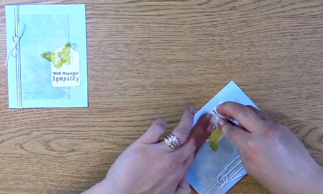 Sympathy Card Part 2 - Creating Your Card zb