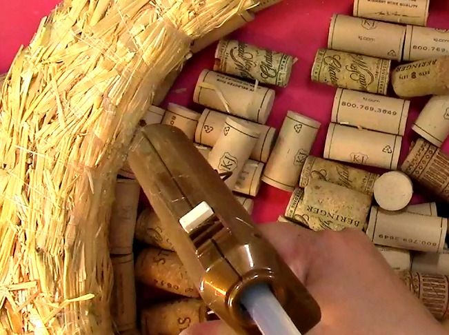 Create your own Cork Wreath Part Two p