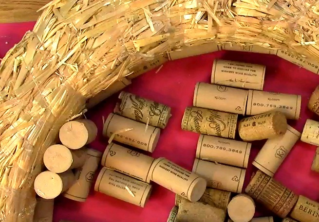Create your own Cork Wreath Part Two q