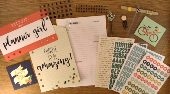 Scrapbook Expo Planner Goodies Clear Stamps And Crafting Products